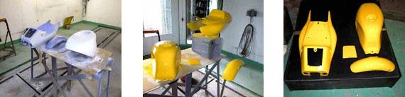 黄色にオールペイント